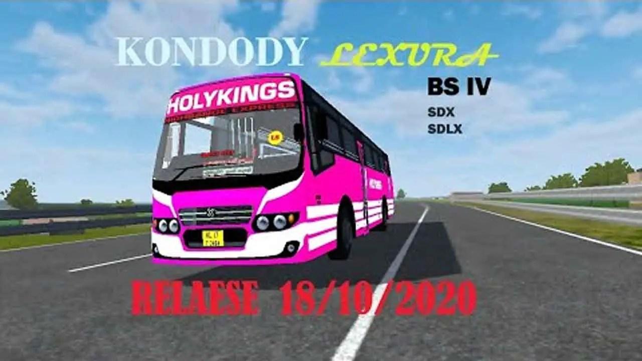 Kondody Luxura BS IV SDX and SDLX Indian Bus Mod, Kondody Luxura BS IV SDX and SDLX Bus Mod BUSSID, Mod Kondody Luxura BS IV SDX and SDLX BUSSID