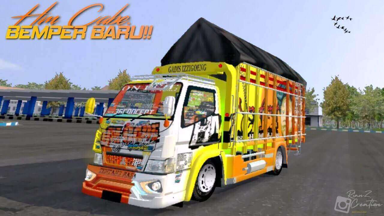 Download FREE Canter HM Cabe Truck Mod BUSSID from SGCArena   BUSSID Truck Mod