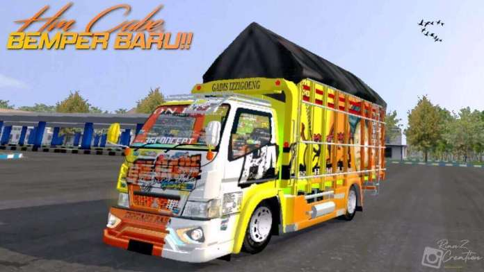 Download FREE Canter HM Cabe Truck Mod BUSSID from SGCArena | BUSSID Truck Mod