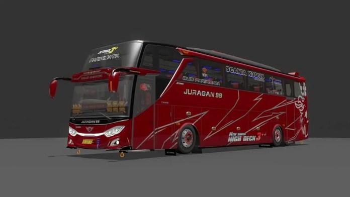 Download New JetBus3+ Scania K360iB Indonesia Bus Mod BUSSID, BUSSID JB3 Bus Mod