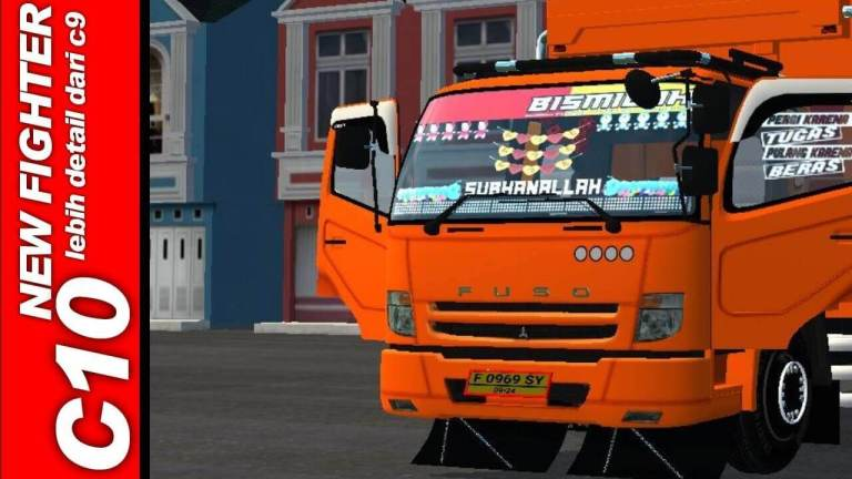 Fuso C10 Truck Mod for BUSSID