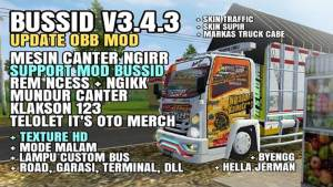 Download BUSSID V3.4.3 Obb Mod: Canter Ngirr Support and HD Texture