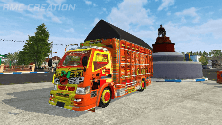 Canter Anti Gosip Truck Mod for BUSSID