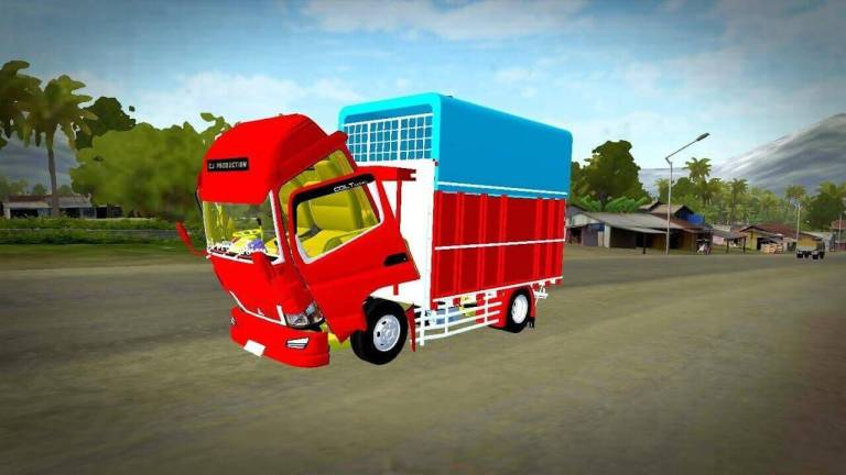 Canter Engkel 120ps Truck Mod for BUSSID