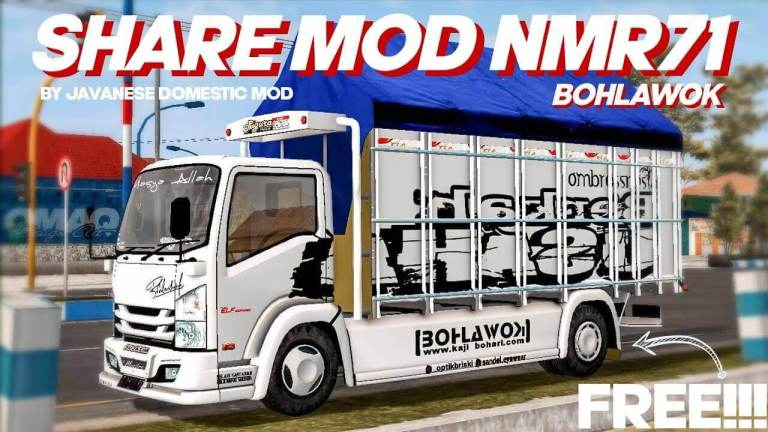 NMR71 Bohlawok Truck Mod for BUSSID