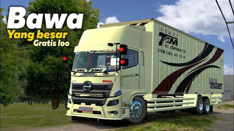 Hino Tam Cargo Truck Mod for BUSSID