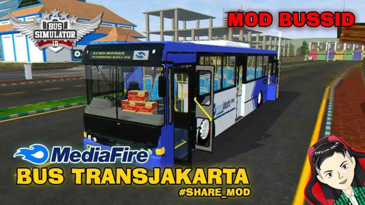 Download Transjakarta Bus Mod for BUSSID, Transjakarta, BUSSID Bus Mod, BUSSID Vehicle Mod, MAH Channel