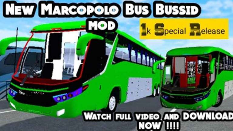 New Marcopolo Bus Mod for BUSSID