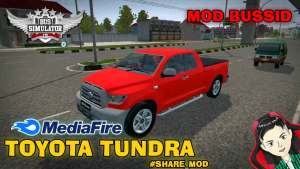 Download Toyota Tundra Truck Mod for BUSSID, Toyota Tundra Truck Mod, BUSSID Truck Mod, BUSSID Vehicle Mod, MAH Channel, Toyota