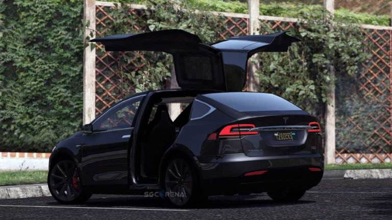 Tesla Model X 2016 SUV Car Mod for BUSSID