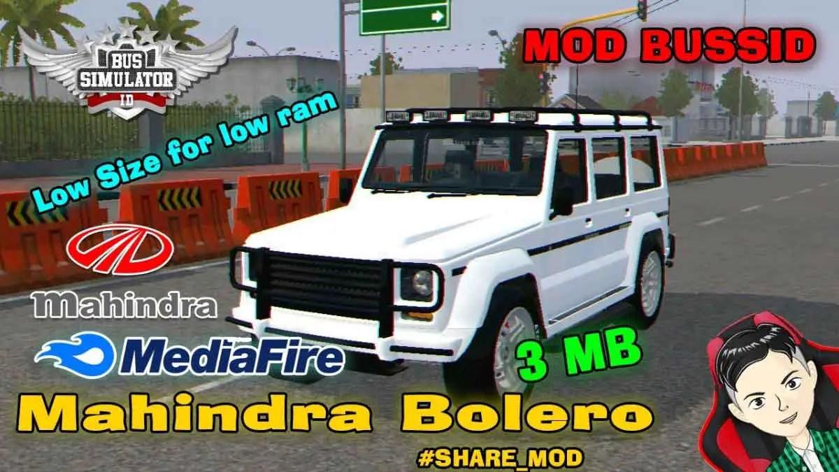 Download Mahindra Bolero Car Mod for Bus Simulator Indonesia, Mahindra Bolero, BUSSID Car Mod, BUSSID Vehicle Mod, MAH Channel, Mahindra