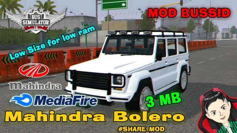 Mahindra Bolero Car Mod for Bus Simulator Indonesia
