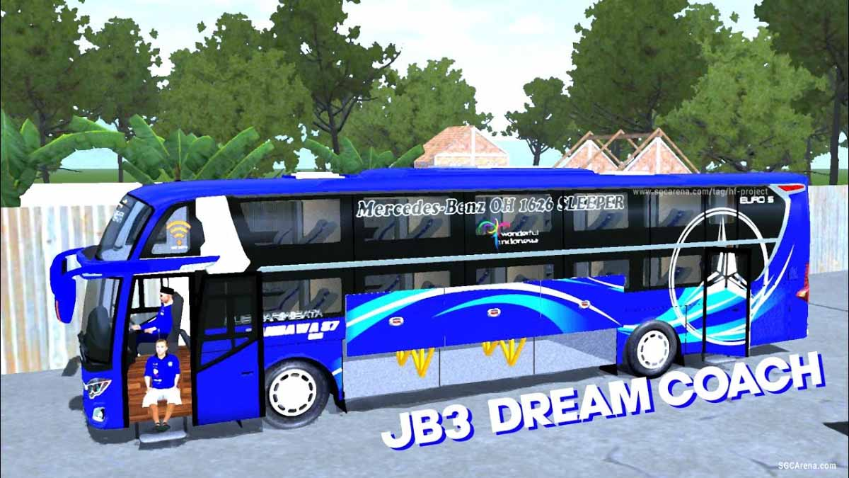 Download Jetbus 3 Dream Coach Bus Mod for BUSSID, Jetbus 3 Dream Coach Bus Mod, BUSSID Bus Mod, BUSSID Vehicle Mod, HF Project, JetBus 3