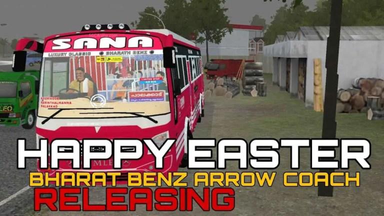 Bharath Benz Arrow Coach Indian Bus Mod BUSSID