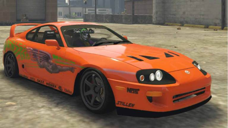 Toyota Supra Paul Walker (Fast and Furious) Car Mod BUSSID
