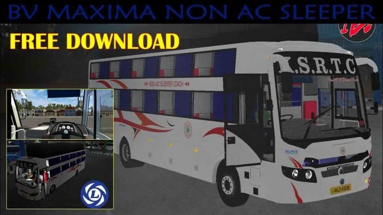 BV Maxima Non AC Sleeper Bus Mod BUSSID