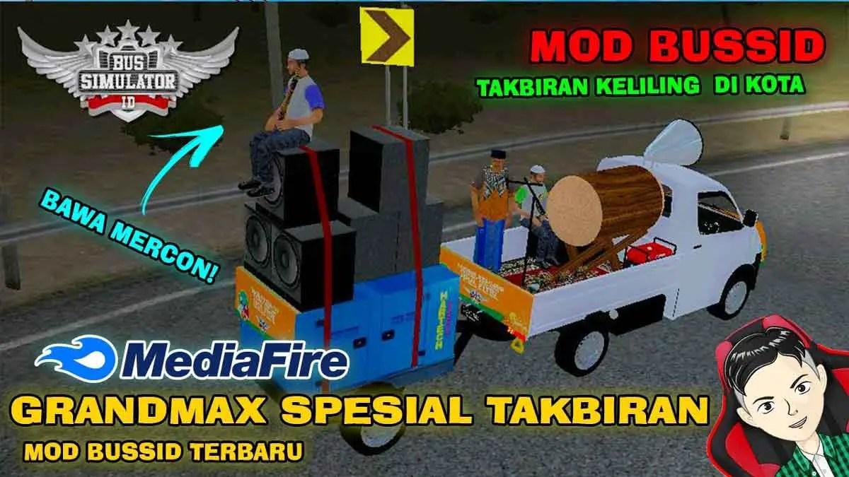 Download Grandmax Spesial Takbiran Truck Mod BUSSID, Grandmax Spesial Takbiran Truck mod, BUSSID Truck Mod, BUSSID Vehicle Mod, MAH Channel