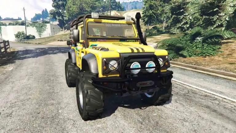 Land Rover Defender 90 Car Mod BUSSID