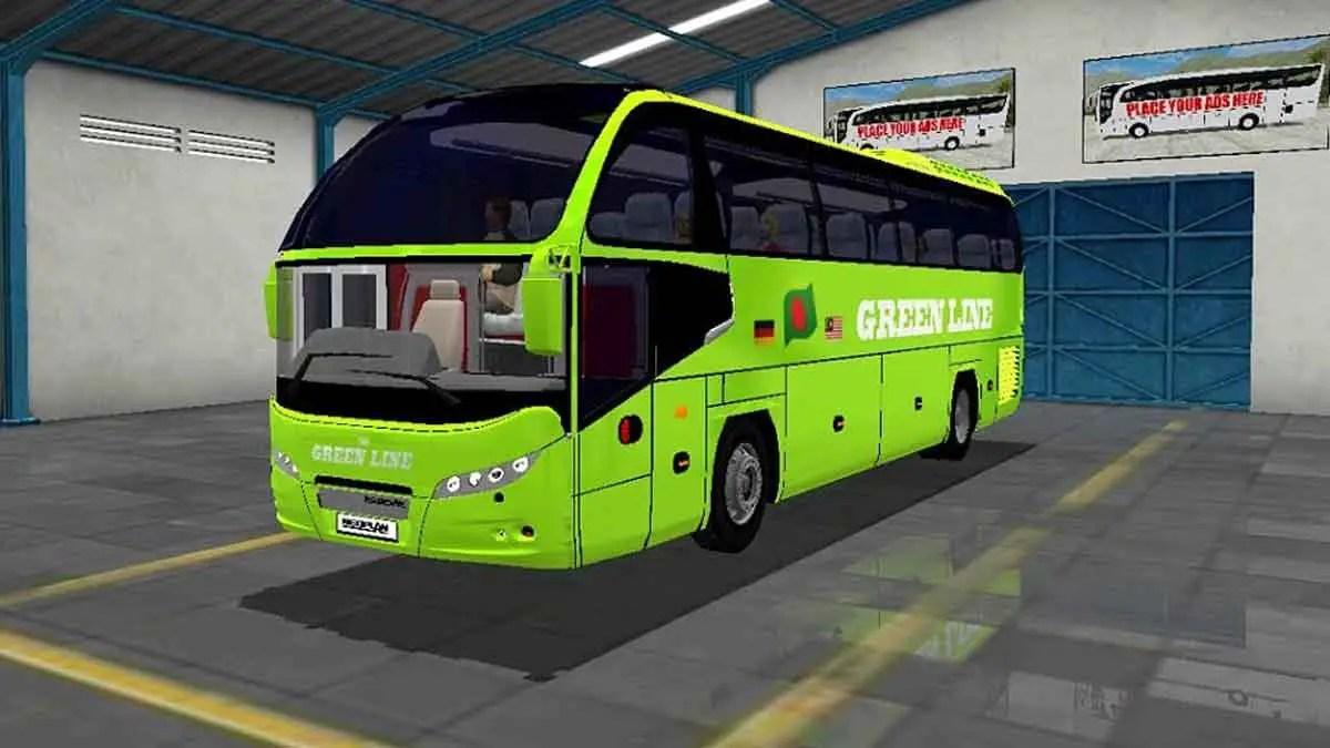 Download Neoplan CityLiner (Green Line High Deck) Bus Mod BUSSID, Neoplan CityLiner, BD Bus Mod, BUSSID Bus Mod, BUSSID Vehicle Mod, Fahim Auvro, Green Line Bus Mod