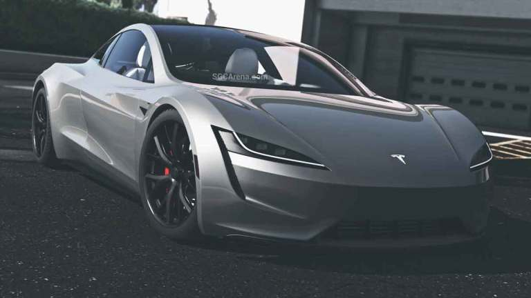 Tesla Roadster Car Mod for Bus Simulator Indonesia