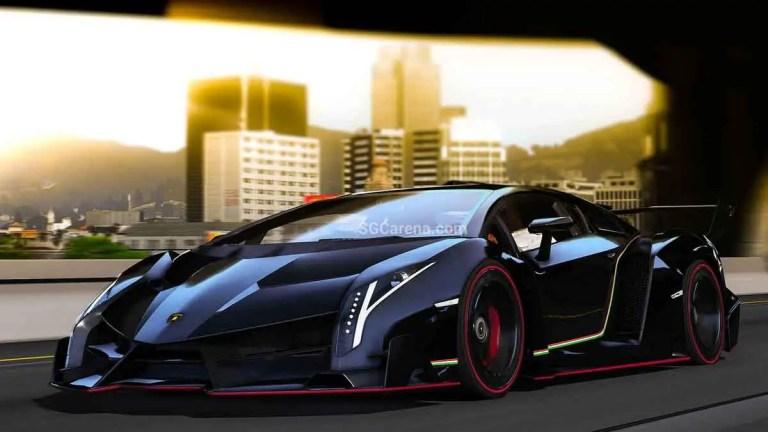 Lamborghini Veneno Sports Car Mod BUSSID