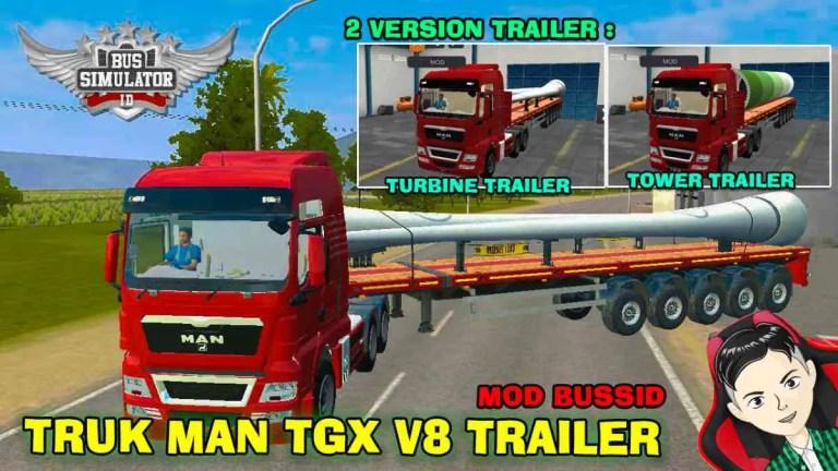 MAN TGX V8 Truck Mod BUSSID
