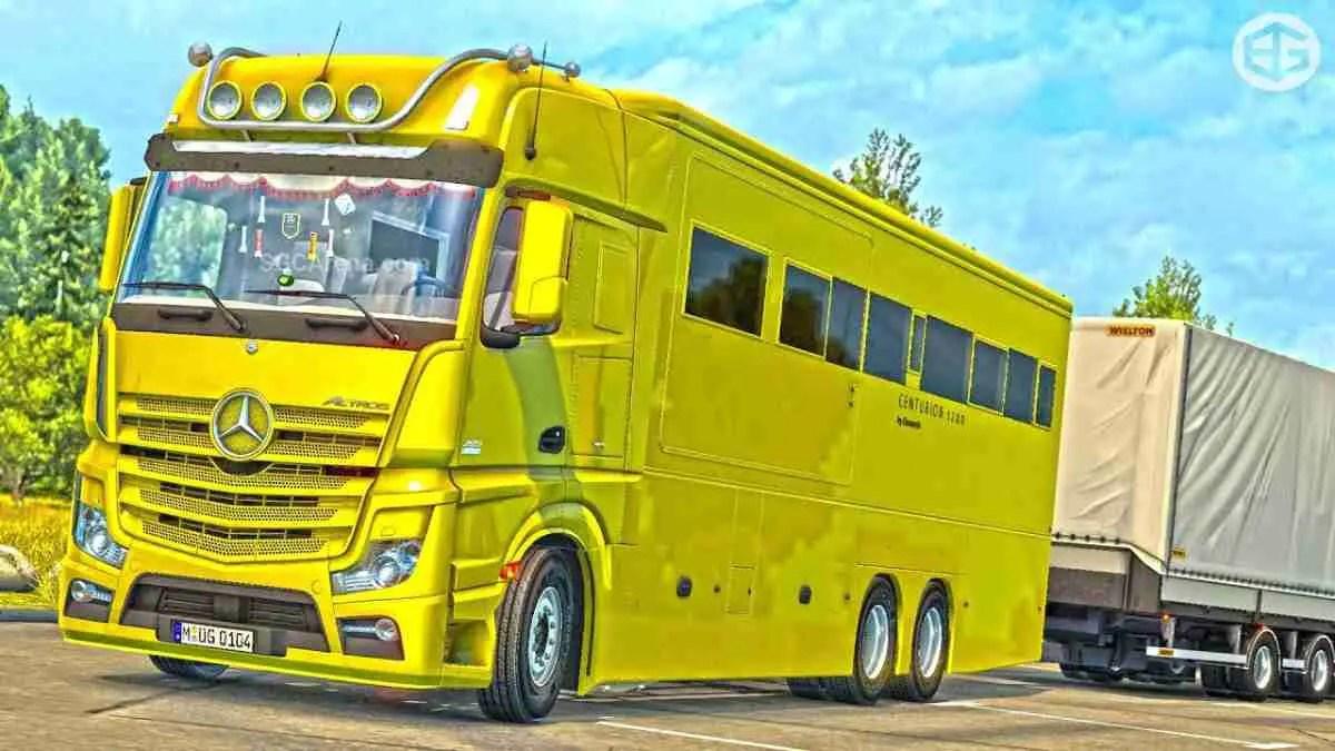 Download Mercedes Benz Motorhome Truck Mod BUSSID, Mercedes Benz Motorhome, BUSSID Truck Mod, BUSSID Vehicle Mod, MAH Channel, Mercedes Benz