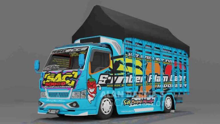 Terbaru Truck SAC Blue Mod BUSSID