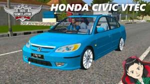 Download Honda Civic VTEC Mod BUSSID, Honda Civic VTEC, BUSSID Car Mod, BUSSID Vehicle Mod, Honda, HONDA CIVIC Mod, MAH Channel