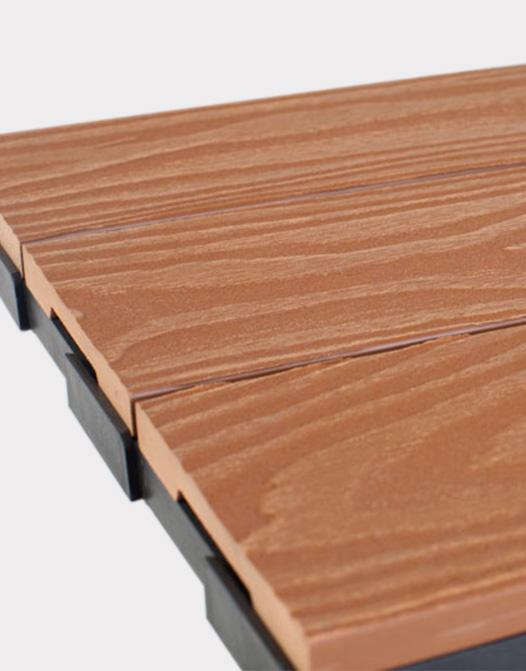composite flooring ezclip natural teak deep wood grain ezclip 1