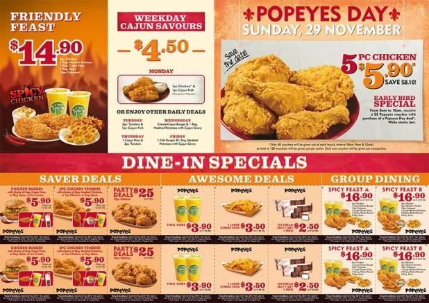 DLOUISIA1110342 Popeyes Spicy Chicken LTO A4 Flyer R2 Path