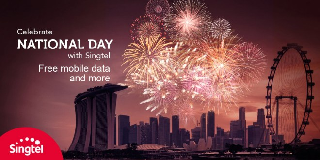Singtel offer free mobile data on 9 Aug 2016