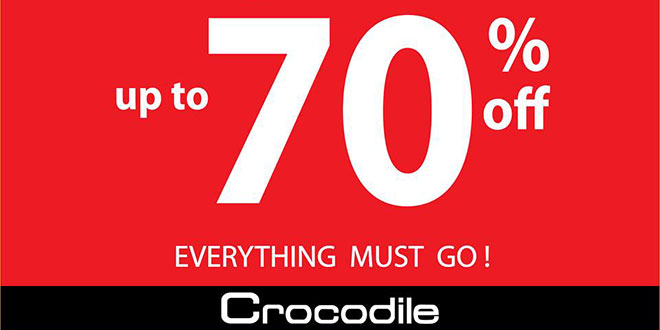 Crocodile Singapore Moving Out Sale