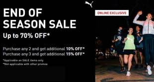 Online Exclusive: Up to 70% OFF at Puma Singapore