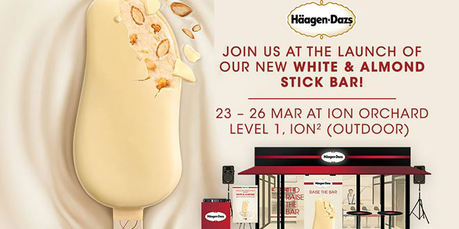 FREE Haagen-Dazs's NEW White & Almond Stick Bar