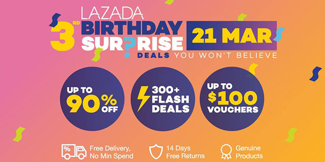 Lazada Singapore 3rd birthday sale