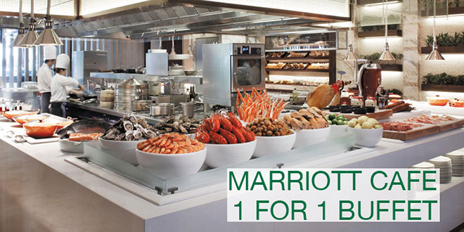 Marriott Cafe 1-for-1 buffet deal