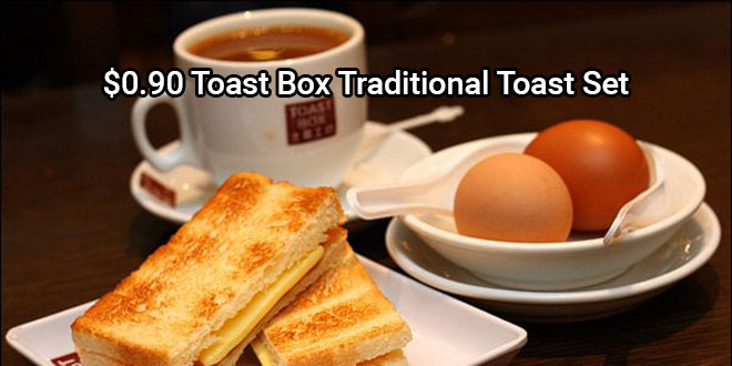 Toast Box Traditional Toast Set at only 0.90 dollar