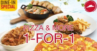 1-for-1 deals at Pizza Hut