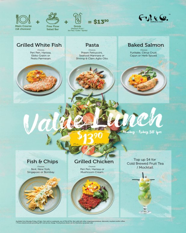 Fish & Co: Value Lunch Set @ $13.90