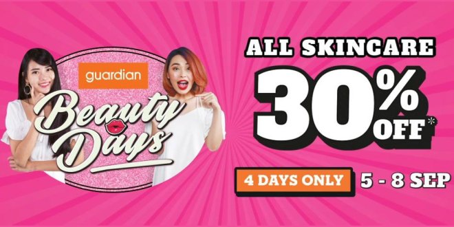 Beauty Days Sale at Guardian in Sep 2019