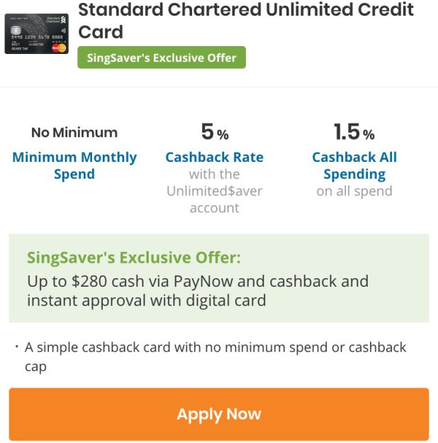 StandardChartered Unlimited card
