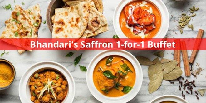 Bhandari's Saffron 1-for-1 Buffet Promotion