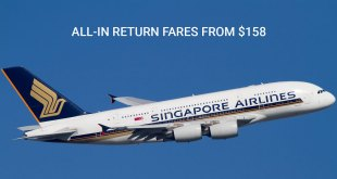 Singapore Airlines promotions till 8 Dec 2019