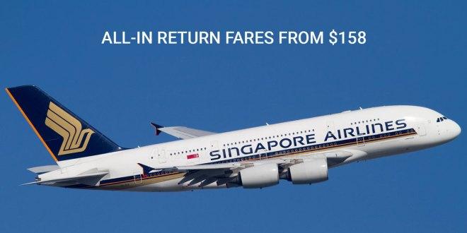 Singapore Airlines promotions till 8 Dec 2019