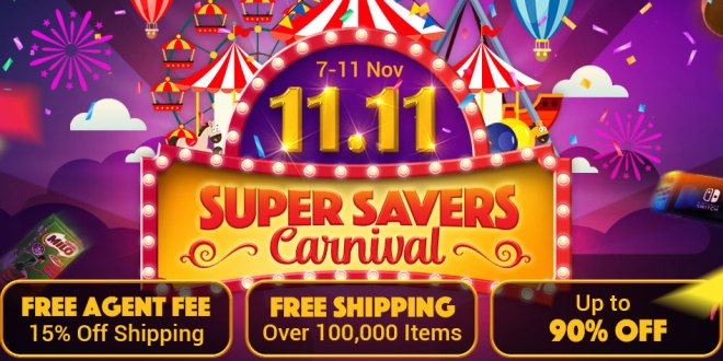 ezbuy super savers carnival 11.11 2019