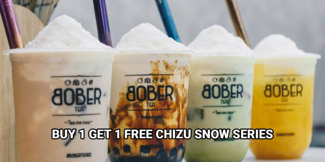 1-for-1 Chizu Snow Series at Bober Tea from 1 - 3 Jan 2020