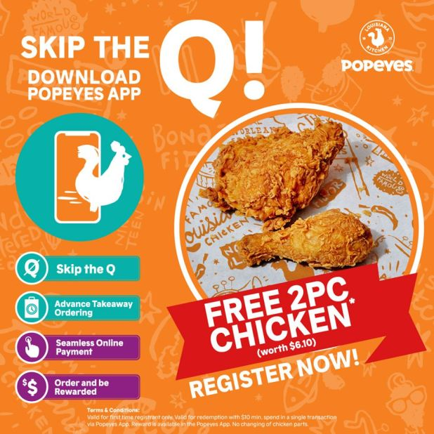 App Special Offer: Free 2pc Chicken