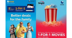 Cathay Cineplexes 1-for-1 promotions