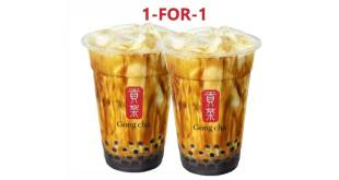 Gong Cha Promotion at Takashimaya: 1-for-1
